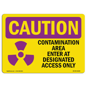 Osha Caution Radiation Sign Contamination With Symbol made In The Usa
