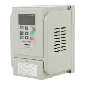 220v 2hp 1 5kw Single Phase To 3 Phase Output Frequency Converter Vfd Vsd Us