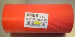 Hanson 10490 300 Roll 12 X 12 Red Plastic Danger Lumber Flags New