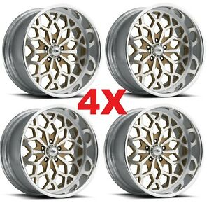 19 Pro Forged Billet Wheels Rims Snowflake Snow Flake Gold Polished