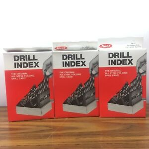 Lot Of 3 Huot Drill Index Case 21 For Jobbers Drills 1 16 To 3 8 By 64ths
