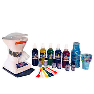 Snow Cone Premium Shaved Ice Machine Tabletop Concession Syrups Cups Included