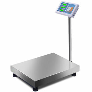 New 660lbs Weight Computing Digital Floor Platform Scale Postal Shipping Mailing