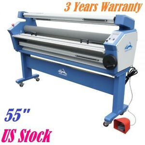 Us Stock 55 Full auto Low Temp Wide Format Cold Laminator With Heat Assisted