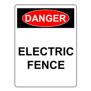 Danger Electric Fence Sign Aluminum Metal Health Safety Warning Uv Signs