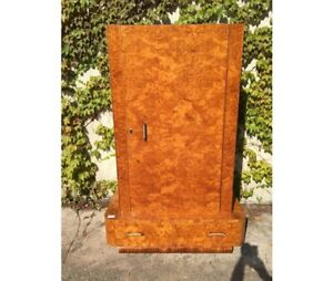 Antique Art Deco Wardrobe With A Door