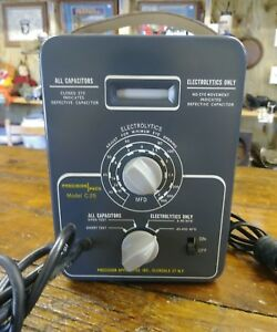 Vintage Paco In circuit Capacitor Tester Model C 25