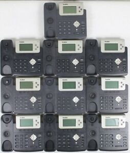 Lot Of 10 Yealink Sip t22p 3 line Voip Poe Hd Voice Office Phones
