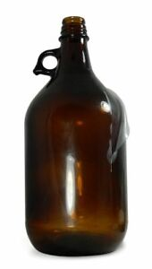Qorpak 84 Oz Amber Safety Coated Glass Jug With Pour Out 6 Pack