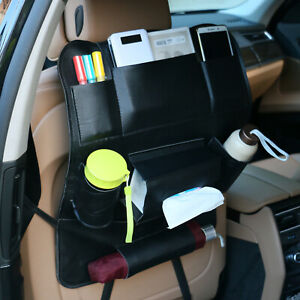New Leather Car Seat Back Multi Pocket Storage Bag Organizer Holder Accessory