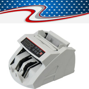 Money Bill Counter Counting Cash Machine Counterfeit Detector Uv Mg Bank Lcd New