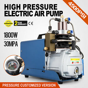 30mpa Electric Air Compressor Pump Pcp High Pressure 110v New Water Cooling
