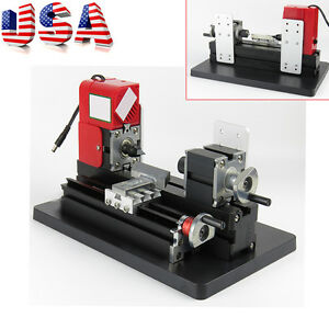 Wood Working Lathe Motorized Machine Diy Tool Multi use Student Artwork Use