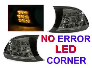 Depo Screw On Amber Led Smoke Corner Signal Lights For 02 03 Bmw E46 2d 02 06 M3