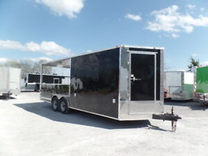 Completion Bbq 8 5x20 Black Porch Style Concession Trailer