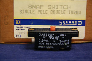 Square D 9007ao2 Snap Switch 600 Vac 15 Amp 9007 Ao 2 Miniature Snap Action New