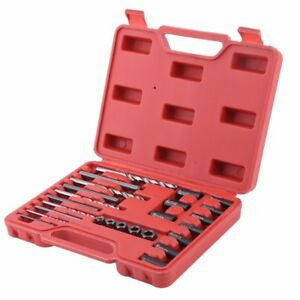 Screw Extractor Drill Guide Set 25pc Bolt Stud Remover Easy Out Uk Stock