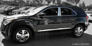 Chevy Equinox 2010 2013 Stainless Steel Quality 4pc Chrome Pillar Posts
