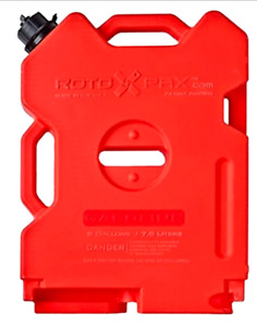 2 Gallon Capacity Portable Fuel Gas Tank Jug Container Durable Plastic Barrier