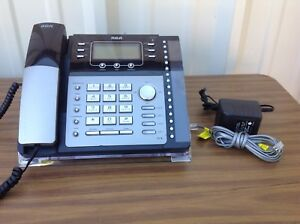 Rca Visys Telephone Business Office 4 Line Expandable Phone 25424re1 W Stand