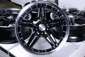 17 Wheels Fit Kia Optima Soul Sportage Legend Mustang Accord Civic Black Rims