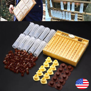 Beekeeping Supplies Bee 100 Cell Cups Cupkit Tool Set Queen Rearing System Nicot