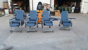Custom Comfort Recliner Tray Blood Draw Chair Lot Of 4