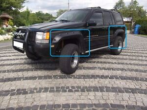 Jeep Grand Cherokee Zj 1992 1998 Wheel Arch Fender Flares Extensions New