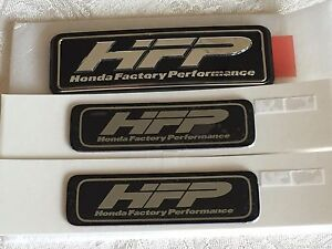 Hfp Black Silver Decal Badge Honda Factory Performance Oem Sides And Rear
