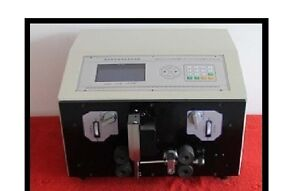 Lcd Computer Double Coaxial Wire Peeling Stripping Cutting Machine Swt508 tz New