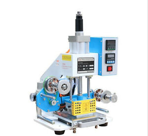 220v 80 90mm Pneumatic Hot Foil Stamping Machine Motor Gilding Press Machine