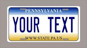 Pennsylvania Custom Novelty License Plate Your Name Or Text 6 X12