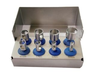 Dental Trephine Drills Kit For Implant Surgical Surgery Set Of 8 pcs