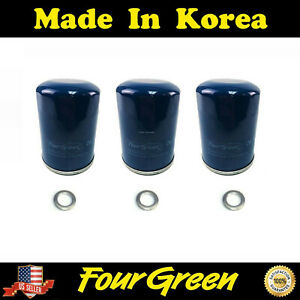 For Honda Acura 3 Pack Oil Filter Set Actual 15400 Plm A01 Filtech Filter