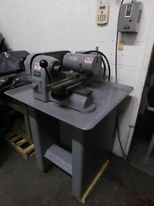 Hardinge Hsl Speed Lathe W lever Collet Clsr Dble Tool Cross Factory Stand
