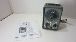 Vintage Eico Model 955 In circuit Capacitor Tester W manual