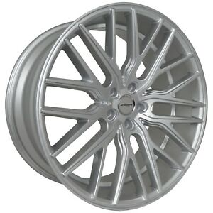 4 Gwg Flare 22 Inch Staggered Silver Rims Fits Jeep Grand Cherokee 2000 2018