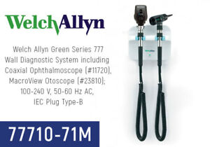 Welch Allyn Wall Transformer Set Gs777 Coaxial Opthalmoscope 77710 71m New
