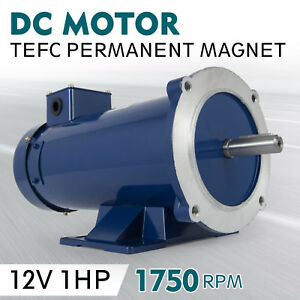 Dc Motor 1 0hp 56c Frame 12v 1750rpm Tefc Magnet Applications Permanent Durable