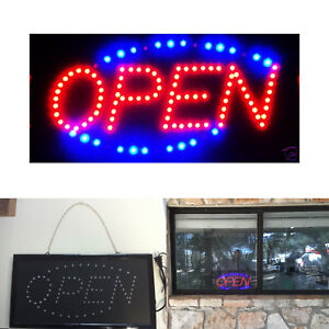 Led Neon Light Business Open Sign Animation Motion Running Power On off Switch