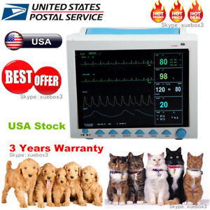 Veterinary Patient Monitor Multi parameter Monitor Ecg Nibp Spo2 Resp Temp Pr
