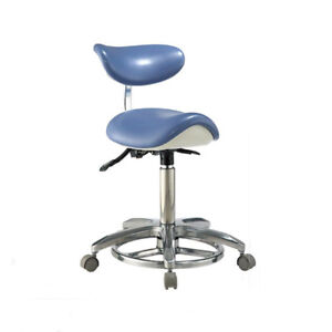 Dental Saddle Doctor Chair Dentist Stool Pu Leather With Deluxe Foot controlled