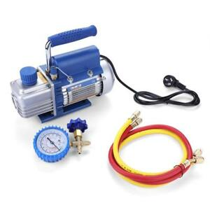 220v 150w Vacuum Pump Kit For Air Conditioning refrigerator With Pressure Gauge