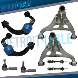 Front Upper Lower Control Arm Tierod Sway Bar For Ford F 150 Mark Lt 4wd 4x4