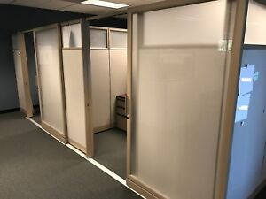 Knoll Steel case Cubicle Private Offices With Doors Open Environment Stations