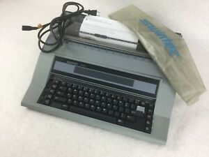 Swintec 600 Electric Typewriter Includes Cover Power Supply Works Free Ship