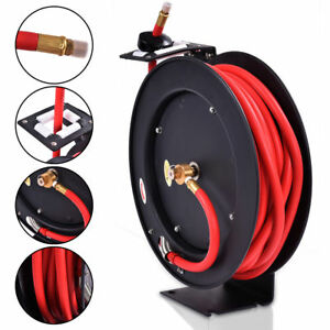 New 3 8 X 50 Auto Rewind Retractable Air Hose Reel Compressor 300 Psi