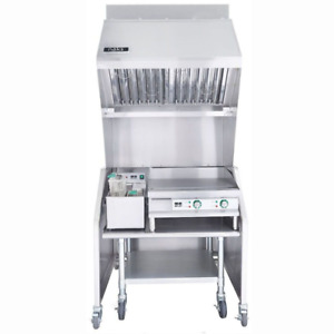 Ventless 3ft Package 15lb Fryer 24 Griddle Table
