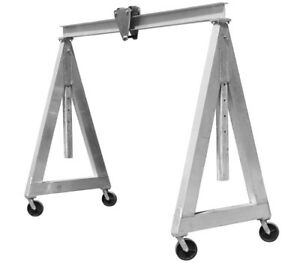 Portable Aluminum Gantry Crane 3 000 Lbs Lift Capacity 10 Ft Wide Adj Height