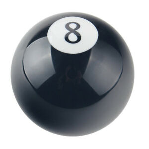 Manual Gear Knob Black 8 Ball Round Shift Lever Shifter Knob Universal Car